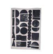 Ścierka kuchenna Stamp czarna - małe zdjęcie