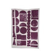 Ścierka kuchenna Stamp fioletowa - małe zdjęcie