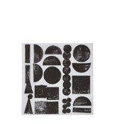 Serwetki papierowe Stamp czarne