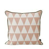 Poduszka Large Geometry różowa - małe zdjęcie