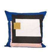 Poduszka Fragment niebieska - małe zdjęcie