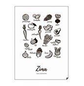 Plakat Zima - Jedz sezonowo