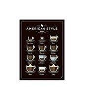 Plakat American Style Coffee 21 x 30 cm