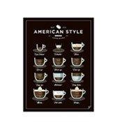 Plakat American Style Coffee 30 x 40 cm - małe zdjęcie