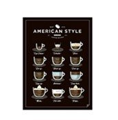 Plakat American Style Coffee 30 x 40 cm
