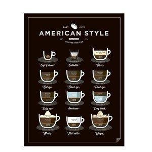 Plakat American Style Coffee