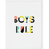 Plakat Boys Rule