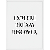 Plakat Explore Dream Discover 70 x 100 cm