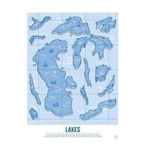 Plakat Lakes