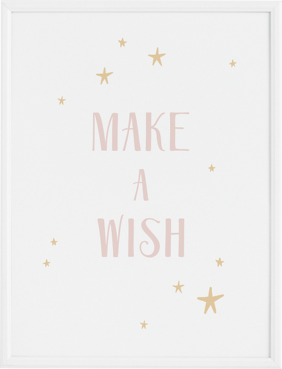 Plakat Make a Wish 21 x 30 cm