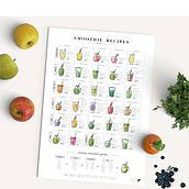 Plakat Smoothie Recipes