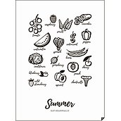 Plakat Summer - Eat Seasonally