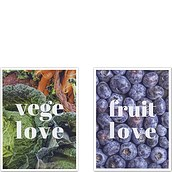 Plakaty Vege Love i Fruit Love 2 szt.