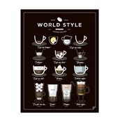 Plakat World Style Coffee - zdjęcie 1