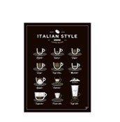 Plakat Italian Style Coffee 21 x 30 cm