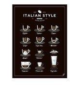 Plakat Italian Style Coffee