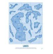 Plakat Lakes 30 x 40 cm