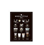 Plakat World Style Coffee 21 x 30 cm - małe zdjęcie