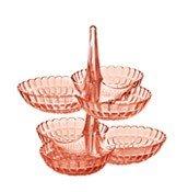 Etażerka na przekąski Tiffany jasnoróżowa - małe zdjęcie