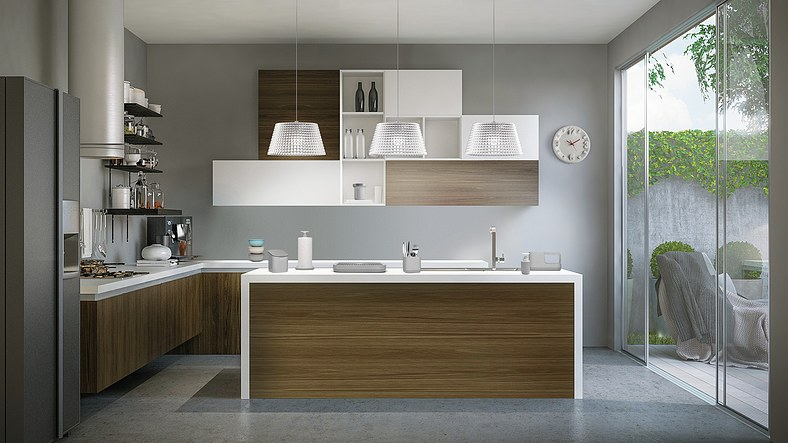 Pojemnik z klapką Kitchen Active Design