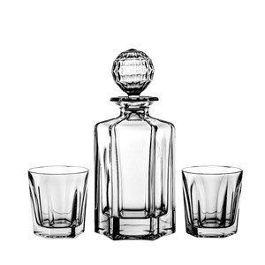 Karafka kryształowa i szklanki do whisky 6 szt.