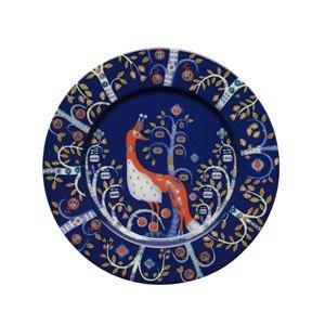 Talerz płaski 22 cm Taika niebieski