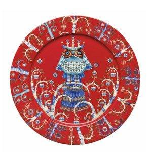 Talerz płaski 27 cm Taika czerwony