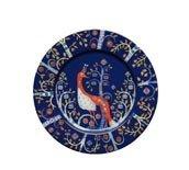 Talerz płaski 22 cm Taika niebieski - zdjęcie 1