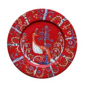 Talerz płaski 22 cm Taika czerwony