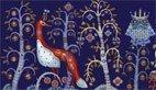 Talerz płaski 22 cm Taika niebieski - zdjęcie 2