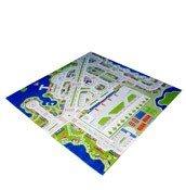 Dywan Miasto Portowe 3D 200 x 200 cm - małe zdjęcie