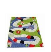 Dywan Soft Play Plansza do Gry 134 x 180 cm niebieski - małe zdjęcie