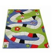 Dywan Soft Play Plansza do Gry 160 x 230 cm niebieski - małe zdjęcie