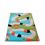 Dywan Soft Play Plansza do Gry 134 x 180 cm turkusowy - małe zdjęcie