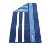 Ręcznik 150x80 cm New Ornament Stripes niebieski - małe zdjęcie