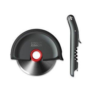 Nóż do pizzy Disc i korkociąg Barwise w zestawie prezentowym