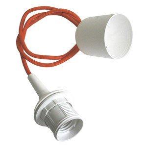 Zawieszenie lampy białe Plus z pomarańczowym kablem