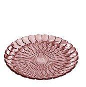 Talerz ozdobny Jelly różowy - małe zdjęcie
