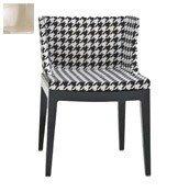 Krzesło Mademoiselle czarny korpus skóra krokodyla perła - małe zdjęcie
