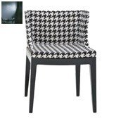 Krzesło Mademoiselle czarny korpus skóra krokodyla brąz - małe zdjęcie