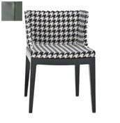 Krzesło Mademoiselle przeźroczysty korpus skóra krokodyla cyna - małe zdjęcie
