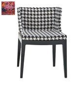 Krzesło Mademoiselle czarny korpus kwiaty - małe zdjęcie