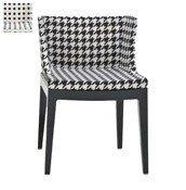 Krzesło Mademoiselle przeźroczysty korpus czarne grochy - małe zdjęcie