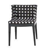Krzesło Mademoiselle przeźroczysty korpus białe grochy - małe zdjęcie