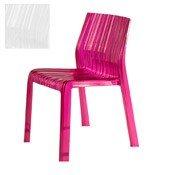 Krzesło Frilly nieprzeźroczyste lśniąca biel - małe zdjęcie