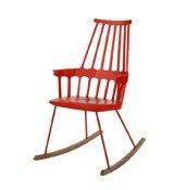 Krzesło bujane Comback pomarańczowoczerwone - małe zdjęcie