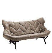 Sofa Foliage czarna rama beżowy poliester - małe zdjęcie