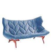 Sofa Foliage czerwona rama niebieska wełna - małe zdjęcie