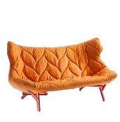 Sofa Foliage czerwona rama pomarańczowa wełna - małe zdjęcie