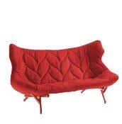 Sofa Foliage czerwona rama czerwona wełna - małe zdjęcie